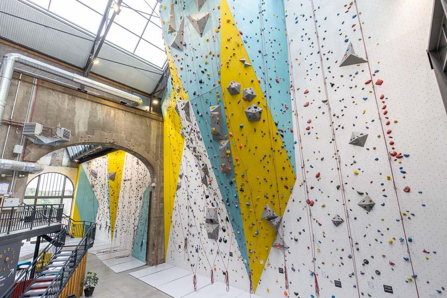 Voies d'escalade à Climb Up Brest