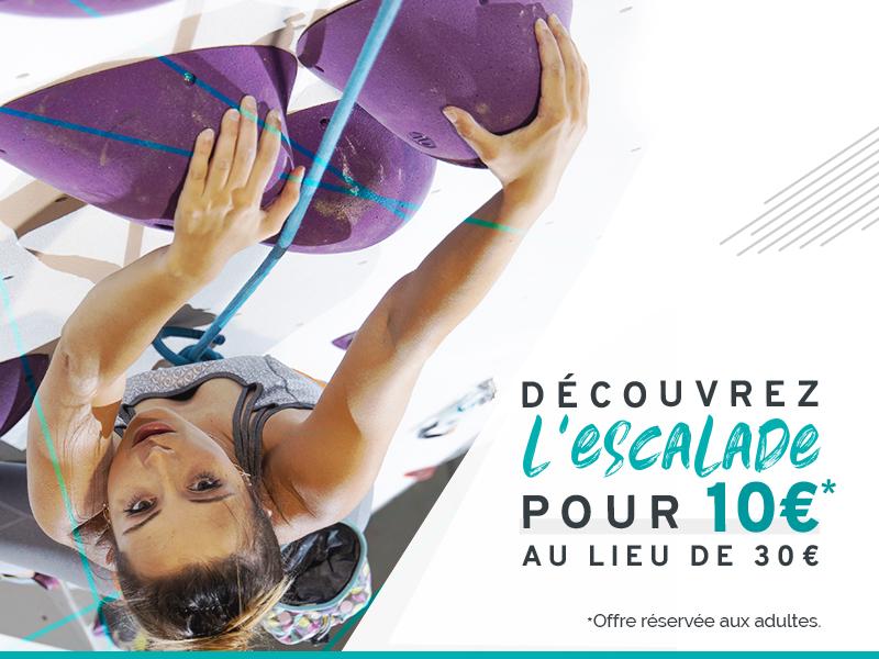 Cours découverte escalade à 10€ au lieu de 30 à Chambéry